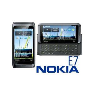 TELEFONO CELLULARE NOKIA E7 GRIGIO 3G WIFI HDMI TASTIERA QWERTY USATO-