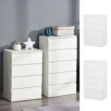 Drawer Cabinet Storage Cupboard Wooden Freestanding Organiser Unit White