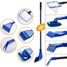 5 in 1 Glass Fish Tank Aquarium Glass Brush Cleaning Kits Fishnet Cleaner Tool