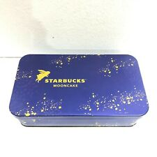 Starbucks Mooncake Gold Bunny Empty Blue Tin Box  limited edition case