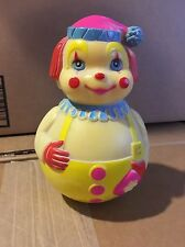 Vintage 1972 WOBBLE Toy THE FIRST YEARS Yellow Clown, Jingles