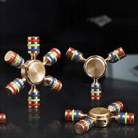 Fidget Hand Spinner DIY Hexagon Metal Brass Desk Toy EDC ADHD Autism KIDS ADULT