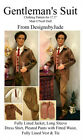 Suit Doll Clothes Sewing Pattern  for Matt Rufus Sean Tonner