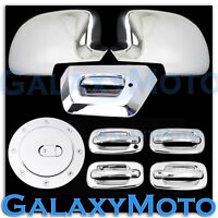 Chevy Avalanche Chrome FULL Mirror+4 Door Handle+w/o PSG KH+Tailgate+Gas Cover