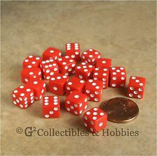 NEW 20 Red Miniature 8mm 6 sided RPG MTG Game Dice Set 5/16 inch Small D6 Koplow