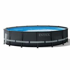 "Intex 26309St 14' x 42"" Ultra Xtr Frame Above Ground Swimming Pool Set w/ Pump"