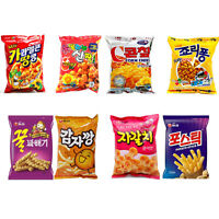 Korean Mini Snack Collection 8Pack(Nongshim Snack 4Pack + Crown Snack 4Pack)