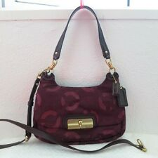 NWT COACH KRISTIN CHAINLINK LUREX HIPPIE SHOULDER/SLING BAG 18281 PLUM