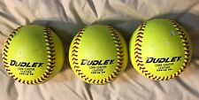 Dudley Soft Balls (3) Fast Pitch Cork Center Leather Cover, CFL 12 FP