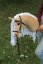 "Hobbyhorse ""Queen"". Light Beige. Stickhorse. Hobbypferd. Handmade."