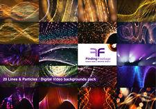Combo 9 Packs / 131 Digital video backgrounds / Download / Vj loops stock video
