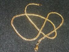 "10K SOLID YELLOW GOLD ""PGDA"" CURB CHAIN NECKLACE - 18"" - ITALY - 4.70 GRAMS"