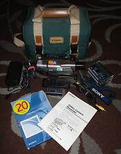 Sony Handycam Vision 8mm Steady Shot 360x Zoom Camcorder Bundle Model CCD-TRV57