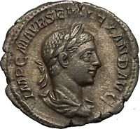 Severus Alexander Ancient Silver Roman Coin Forethought Providentia  i52137