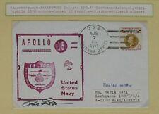 s1173) Raumfahrt Space Apollo 15 Bergungsschiff USS Okinawa Autograph Dave Scott