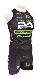 Wattie Ink Herbalife 24 Sleeveless Triathlon Kit Women MEDIUM Black Cannondale
