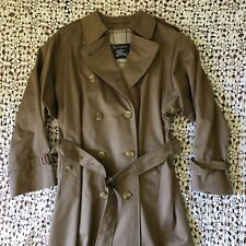 Burberrys Authentic Trench Coat Double Breasted Taupe Brown Classic 10 L Long