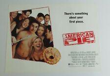 American Pie 1999 Original UK Mini Quad Cinema Poster