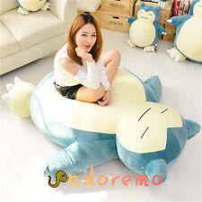 USA 59' Pokemon Giant Snorlax Plush Kabigon Doll Bed Zip Cover Case Xmas Gift