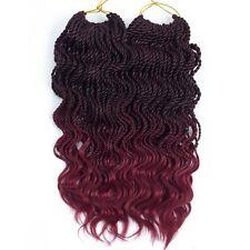 VRHOT 6Packs 18 Wavy Senegalese Twist Crochet Hair Braids Free Ends Ombre Hair