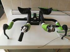 Shimano dura ace TT carbon brake levers, Deda Aerobars, Profile Design Stem