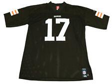 Cleveland Browns #17 Braylon Edwards NFL Football REEBOK VTG Jersey Men's - 2XL