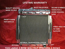 1953 1954 1955 1956 FORD PICKUP TRUCK F-100 ALUMINUM RADIATOR WITH CHEVY MOTOR