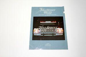 Vintage Sheet Music The Hill Street Blues Theme MTM Music 1980