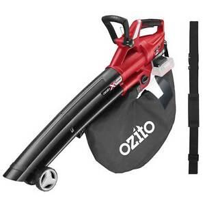 Ozito PXCBLVS 36v Cordless Brushless Garden Vacuum and Leaf Blower (Uses 2 x 18v