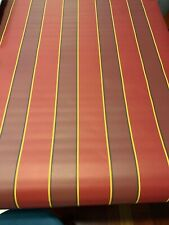 Vintage Wallpaper RED GOLD STRIPE YORK Carey Lind EXQUISITE