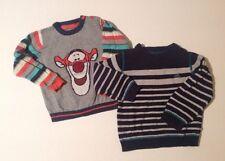 Baby Boys 18-24 Months X2 Jumpers Disney Tigger + Blue Grey Striped Mini Rebel
