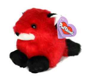 Puffkins 1998 Franklin the Red Fox Swibco Plush Style 6648