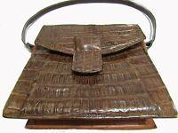 Bolso de piel de cocodrilo del amazonas autentico - usado de 1970