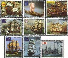 Paraguay 3314-3322 (kompl.Ausg.) gestempelt 1980 Schiffsgemälde EUR 5