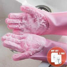 2PCS Multifunction Silicone Cleaning Gloves Magic Silicone Dish Washing Gloves