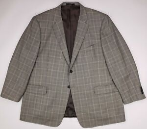 John W Nordstrom Sportcoat 50R Wool Silk Houndstooth Multicolor Check Mens Size