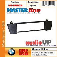 MASCHERINA AUTORADIO 1 DIN BMW Z4 ROADSTER E85 2002->2009 ADATTATORE UN DIN