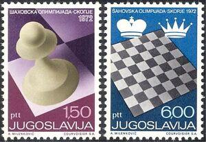 Yugoslavia 1972 Chess Olympiad/Board Games/Sports/Chessmen 2v set (n21612)