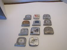 VTG LOT OF 11 SMALL 6/8 FT TAPE MEASURES SOME W/ADVERTISING USA  MADE USED READ