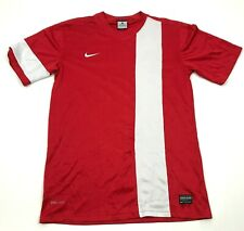 Nike Soccer Jersey Size Small S Red White Shirt Dry Fit Tee Short Sleeve Adult