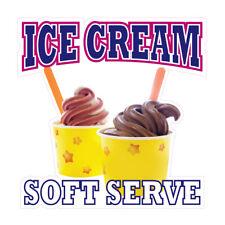 Ice Cream Soft Serve Concession Restaurant Food Truck Die Cut Vinyl Sticker