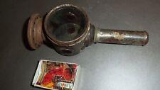 Très ancienne lanterne à bougie pour fiacre, vélo, voiture, usage à déterminer