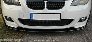 Splitter for BMW E60 E61 Spoiler Lip M Sport Front Bumper chin Power apron Tech