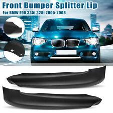 Front Bumper Splitter Spoiler Lip For BMW E90 325i 325xi 328xi 335i 335xi 330xi