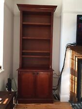 Mahogany Tall Open Bookcase Shelf Antique Reproduction Victorian Storage Cabinet