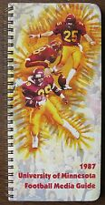 "1987 ""University of Minnesota Football Media Guide"",, All-Big Ten Players"