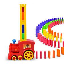 60Pcs Dominoes Blocks Set Electric Train Game Stacking DIY Car Toy Gift For Kids
