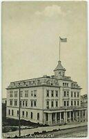 Navy Naval YMCA Vallejo California CA Street View Black White 1900's Postcard