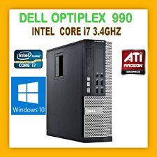 DELL OPTIPLEX 990 INTEL CORE I7 3.4GHZ 4GB 250GB HDD DVDRW WINDOWS 10 PRO 64BIT
