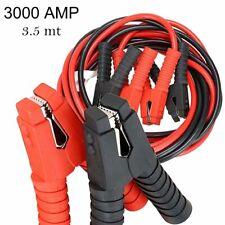 Cavi avviamento collegamento batteria 3000AMP auto moto camper 3,5mt DIN72553-25